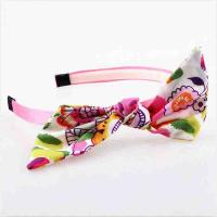 China Hoop Toddler Girl Hair Accessories Hairband Fabric Material Eco - Friendly on sale