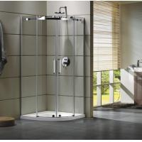 Quality Semi - Frameless Curved Glass Shower Door Enclosures For Bathroom 100 X 100 X 195 cm wholesale