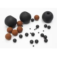 Quality Heat Resistant FKM Solid Rubber Ball For Screen Cleaning / Air Restriction wholesale