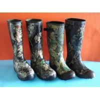 Quality Hunting Rubber Rain Boots, Camo Rubber Boots, Hunting Boot (37-47#) wholesale
