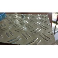 China 2 Bar Aluminium Checker Plate Sheet High Brightness For Construction on sale