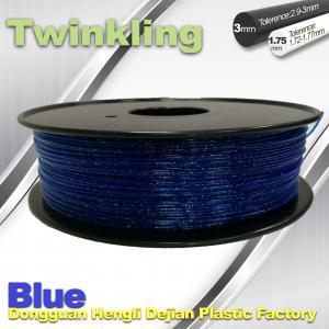 Quality Blue Color Flexible 3D Printer Filament 1.75 3.0mm Twinkling Filament 200°C - 230°C wholesale