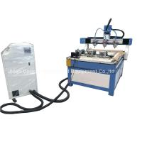 Quality 3 Heads 3 Rotary Axis Wood Metal Stone CNC Engraving Cutting Machine wholesale
