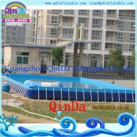 Quality Guangzhou QinDa Above Ground Pool PVC Frame Pool wholesale