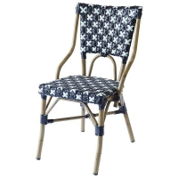 Quality Outdoor Restaurant 0.038CBM Rattan Wicker Bistro Dining Chairs wholesale