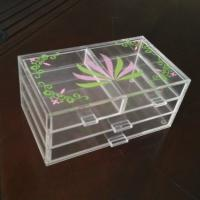 Quality Acrylic 3 tiers Cosmetic Display 4 drawers Light weight with silk printing wholesale