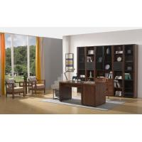 Cheap 2016 New Nordic Design Study room Furniture by Walnut wood Office Desk with Armchair and in Wall Bookcase Cabinet for sale