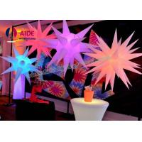 Quality PVC Cloth Crystal Fancy Inflatable Party Decorations Colored LED Lights wholesale