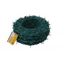 Quality Green PVC Coated Barbed Wire Fence wholesale