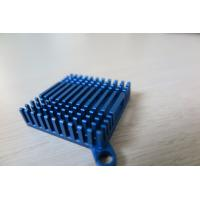 Cheap Blue Air Cooling Aluminium Heat Sink Profiles / Casting And Forging Heat Sink for sale