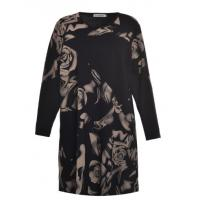 China Long Sleeve Mature Ladies Plus Size Dresses Customized Color / Material on sale