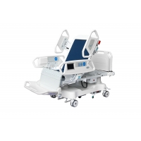China Lateral Tilting Multifunction Electric Hospital Bed With Tactile Membrane Control on sale