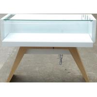 Quality Veneer Wood Material Cell Phone Display Cabinets With LED Strip Lights wholesale