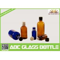 Quality Wholesale 1/2oz 1oz 2oz 4oz 8oz  Amber Cobalt Blue Boston Round Glass  Screw Bottle wholesale