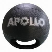 China Single Grip Rubber Medicine Ball, Suitable for Exercise on sale