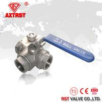 Quality Stainless Steel T Port / L Port Thread Floating Three Way Ball Valve 1000WOG wholesale