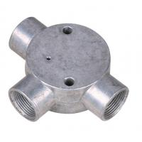 "Quality BS Threaded Three Way Junction Box , Weatherproof Metal Conduit Box 1/2"" 3/4"" wholesale"