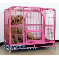 Quality Pet Cages, Carriers & Houses foldable double door large dog kennel house, portable strong dog cage fold able stainless s wholesale