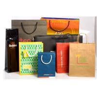 Quality Recyclable Customized Paper Bags Full Color Printing Kraft With Handles wholesale
