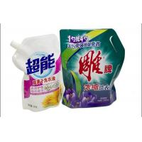 China PET / PE / PA Liquid Stand Up Spout Pouch Packaging For Laundry Detergente on sale