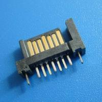 China 7Pin 90 angle dip smt  type female connector right angle SATA Connector,Double row inserts on sale
