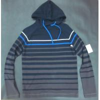 Cheap Spring Mens Wool Sweaters Shirt Knitted Striped Pullover With Hood for sale