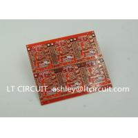 Quality 3'' U Gold Plating Multilayer PCB FR4 Printed Circuit Board Red Solder Mask wholesale