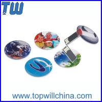 Buy cheap Slim Round Card USB 8 GB Flash Drive High Printing Quality Best Price Best Service product