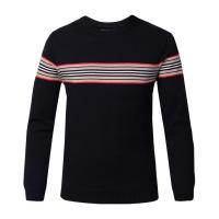 Quality Flat Knitted Mens Warm Winter Sweaters , Round Collar Pullover Sweaters For Men wholesale