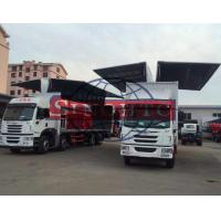 Quality FAW Cargo Transport Truck Opening Wing Van Truck3 - 30 Tons Loading Capacity wholesale