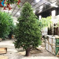Quality Courtyard Decoration Artificial Pine Trees , Evergreen Artificial Christmas Trees wholesale