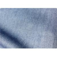 Quality Light Blue Lightweight Denim Fabric By The Yard For Trousers / Bedding wholesale