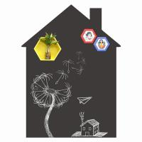 China House Shape Removable Chalkboard Sticker Wholesale for sale