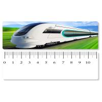 Quality 5.4x31cm High - Speed Train 3D Lenticular Ruler PET Material For Student Stationery wholesale
