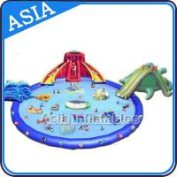 China Super Fun Inflatable Water Park , Amusement Park Games Equipment on sale