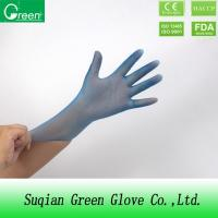 Quality Blue Disposable P Free Powder Free Vinyl Gloves Food Safe Small Size Durable wholesale