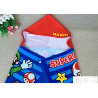 Quality Plain Style Poncho Swimming Towels , Childrens Hooded Beach Towels Various Size wholesale