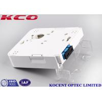Quality 1 Port SC Duplex Fiber Optic Termination Box Wallmount Socket 2 Cores FTTH FTTB wholesale