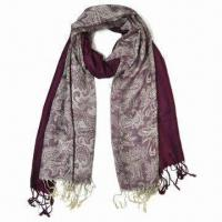 Quality Pashmina scarves, made of viscose, available in 12 colors wholesale