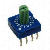 Quality Rotary Coded Switch, 4 to 1-pin, 8/10/16pos, Thru-hole/SMD/Right Angle wholesale