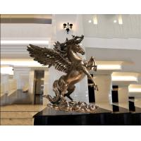 Quality Surface Painted Antique Bronze Statue , Indoor Metal Sculptures Hotel Decoration wholesale