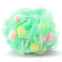 Quality large mesh bath ball with small pieces of sponges wholesale