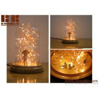 China Wholesale Copper Wire LED String Light Glass Christmas Decoration Table Lamp on sale