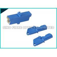 Quality SC Footprint E2000 APC Adapter Fiber Optic Blue Plastic Housing Flange With 2 Holes wholesale