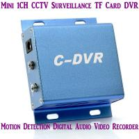 Quality Mini C-DVR 1CH CCTV Surveillance TF Card DVR Digital Audio Video Recorder Motion Detection wholesale