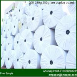 China AA+ Grade Good Stiffness 250 / 300 / 350 gram Duplex Paper Board With Grey Back on sale