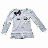 Quality Girl's Cotton/Poly Long Sleeve T-shirt wholesale