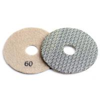 China 4 Inch 100mm Concrete Polishing Pads 4pcs / Set Fast Removal Tile Glass Stone Sanding Disk on sale