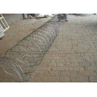 Quality Hot Dipped Galvanized Razor Barbed Wire For Fence , Electric Barbed Wire Fence wholesale