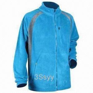 Quality Men's Fleece Jacket with Plastic Zipper wholesale